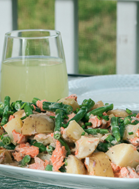 Roasted Salmon Potato Salad