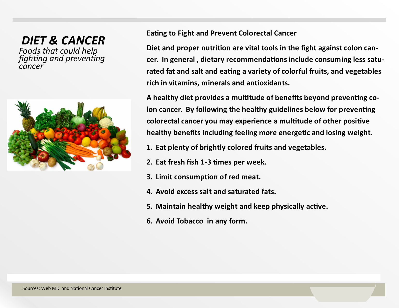 Diet & Cancer 1