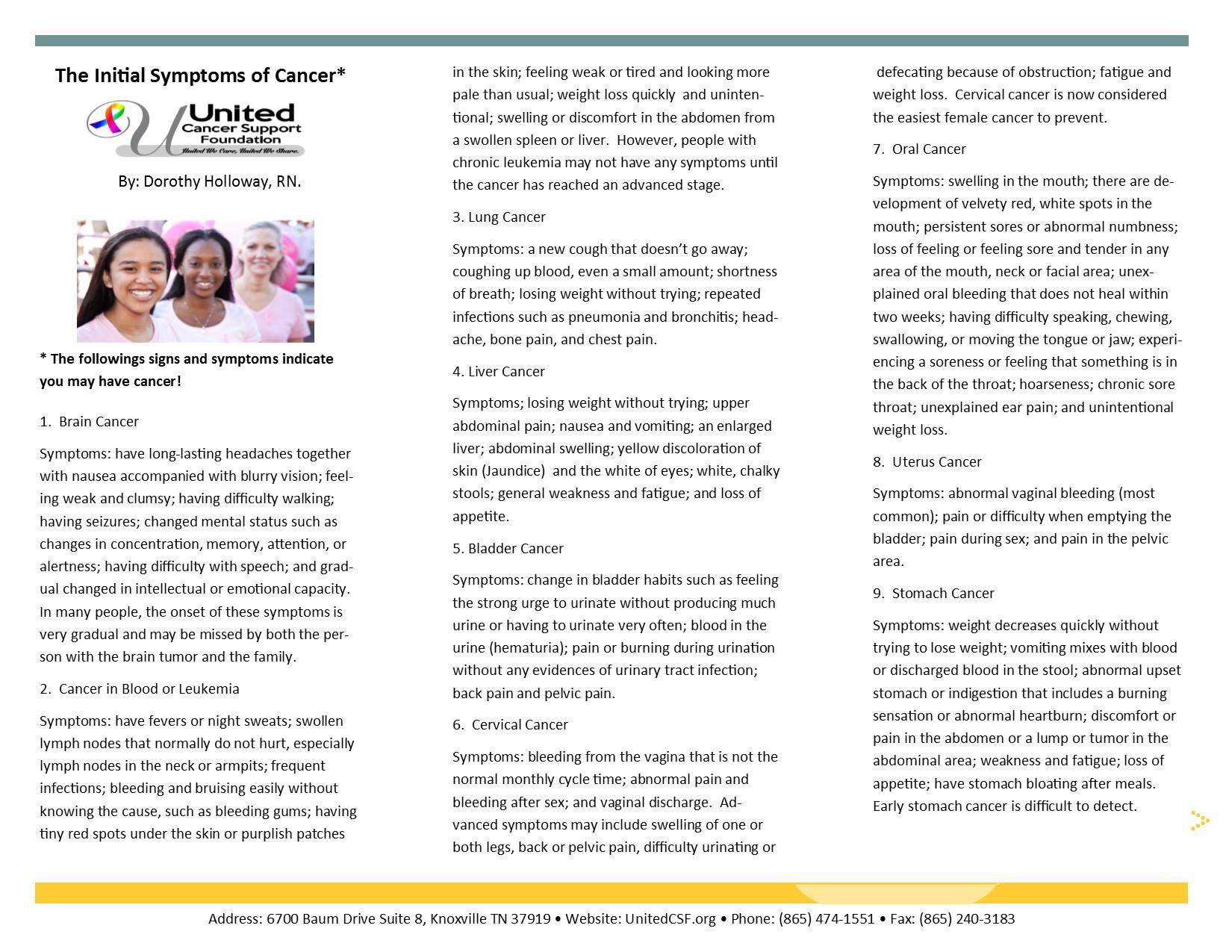 Publication Brochure By Dorothy Holloway, RN